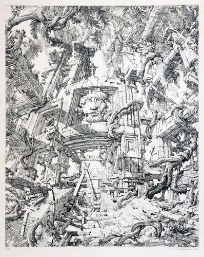 Erik Desmazières, 'Le Temple dans le jungle', 1973
