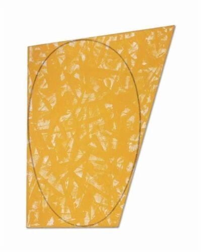 Robert Mangold, 'Irregular Yellow/orange area with a drawn ellipse', 1987