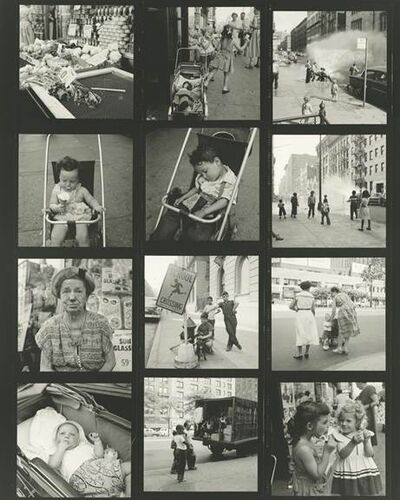 Vivian Maier, 'vm1954w02925 - Untitled, 1954 (Contact Sheet), Kids and Strollers', Printed 2017