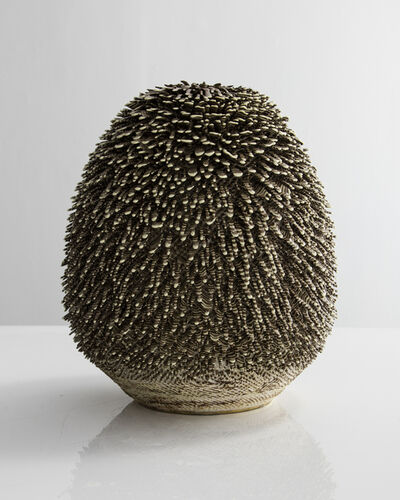 The Haas Brothers, 'Unique, Hand-thrown Big Soholelange Accretion with Cameroon and Color Changing Slip in Clear Glaze', 2015