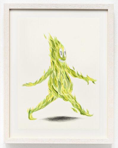 Jeff Ladouceur, 'Green Flame (Sauntering Fire Spirit)', 2017