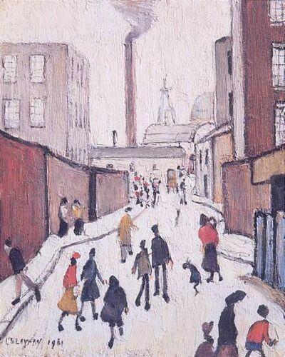 L.S. Lowry, 'Street Scene', 1972
