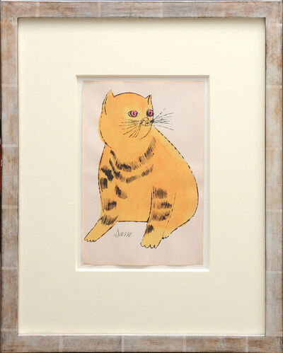 Andy Warhol, 'Sam. [Sitting yellow cat with red eyes.]', 1954