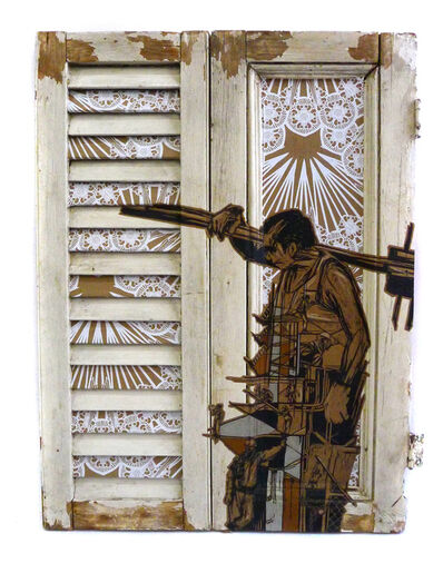 Swoon, 'Construction Worker 16', 2018
