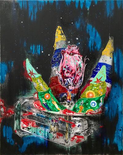 Wang Liang-Yin, 'Metal Christmas Tree and Rose', 2020