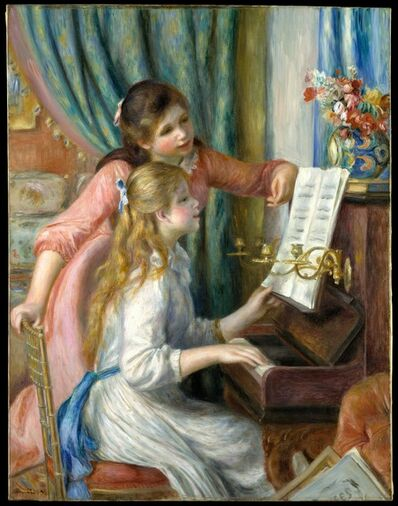 Pierre-Auguste Renoir, 'Two Young Girls at the Piano', 1892