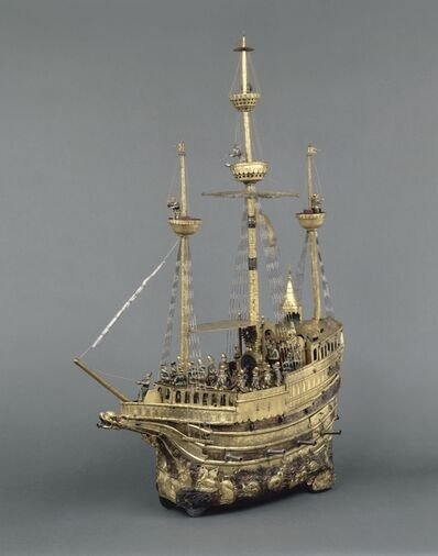 "Hans Schlottheim, 'Nef automate dite ""de Charles Quint"" (Mechanical galleon of Charles V)', c. 1580"