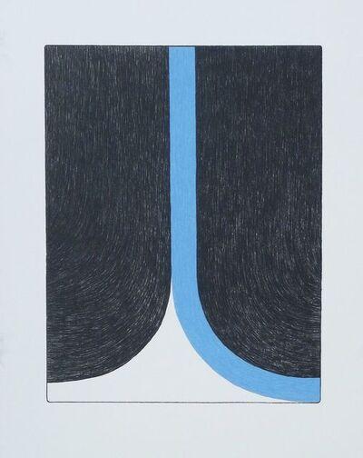 Ulrike Müller, 'Print (Franza) - Blue', 2014