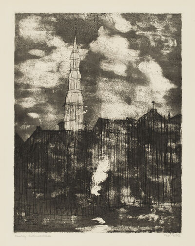 Emil Nolde, 'Hamburg, Church of St. Catherine', 1910