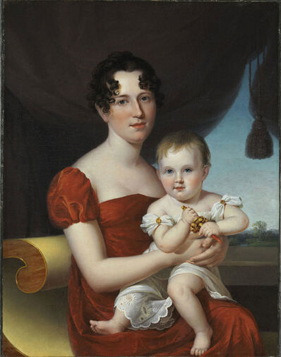 James Peale, 'Portrait of Mrs. Nathaniel Waples (1796-1819) and Her Daughter, Sarah Ann (1816-1850)', 1817