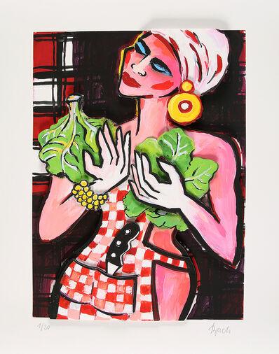 Elvira Bach, 'Ohne Titel (Küchendiva mit Salat)', 2018