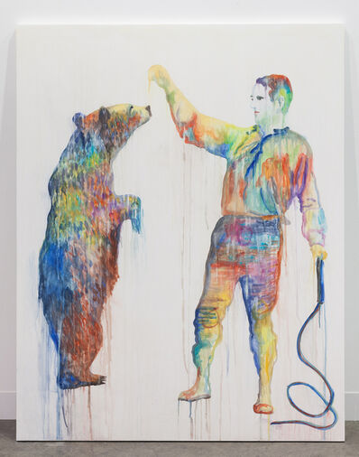 Ulla von Brandenburg, 'The Shadow of Itself (Man and Bear)', 2017