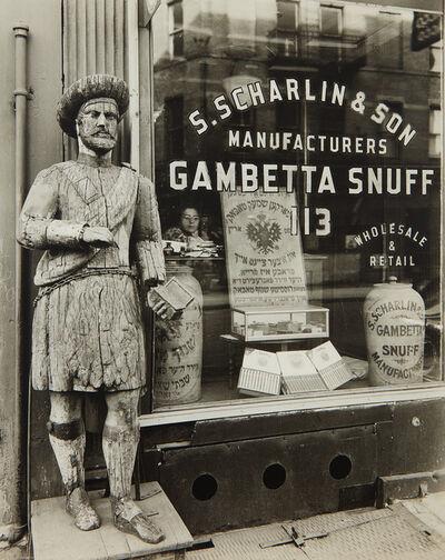 Berenice Abbott, 'Snuff Shop, 113 Division Street at Orchard Street', 1938