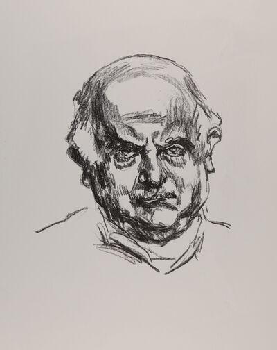 Ludwig Meidner, 'Selbstbildnis (Variante II: Blick frontal nach links)', 1965
