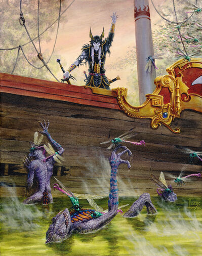 Richard Hescox, 'Elric Summoning the Swarm', 2017