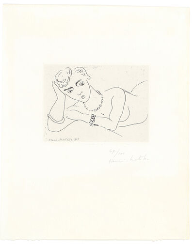 Henri Matisse, 'Femme Allongée', 1925