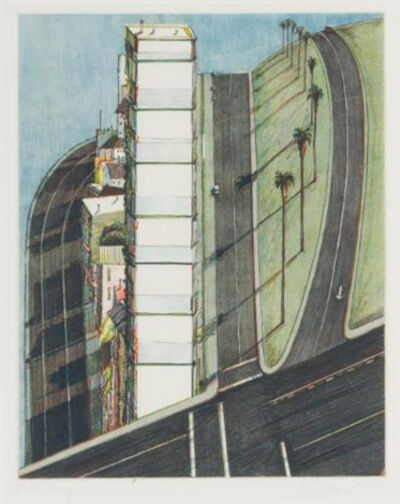 "Wayne Thiebaud, '""Palm Ridge"" (from Recent Etchings II)', 1979"