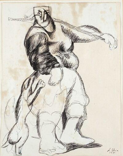 Sandro Chia, 'Figura con cane', 1982