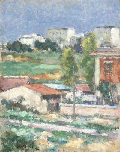 Ardengo Soffici, 'Paesaggio fuori Porta S. Paolo', 1946