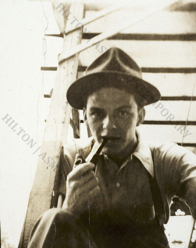 """Frank Sinatra, 'Frank Sinatra - """"Selfie"""" on the stairs ', Late 1930s"""
