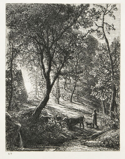 Samuel Palmer, 'The Herdsman's Cottage', 1850