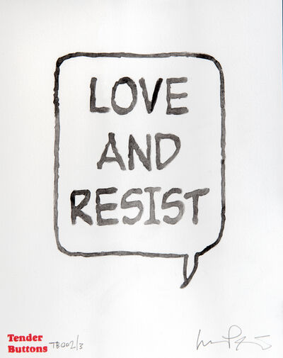Lucas Price, 'Love And Resist', 2018
