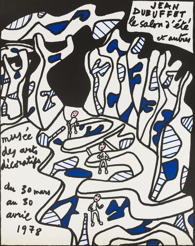 Jean Dubuffet, 'Two exhibition posters', 1974 and 1977
