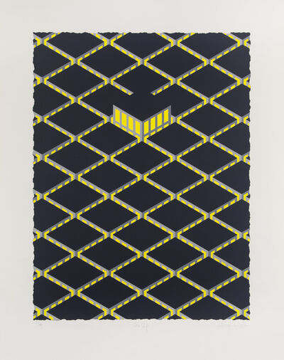 Patrick Hughes, 'One Up', 1982
