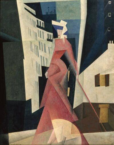 Lyonel Feininger, 'Woman in Mauve', 1922
