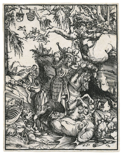 Lucas Cranach the Elder, 'St. George on Horseback slaying the Dragon.', ca. 1512