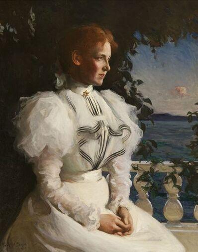 Frank Weston Benson, 'Lady in White (Helen Coffin Weld)', 1897