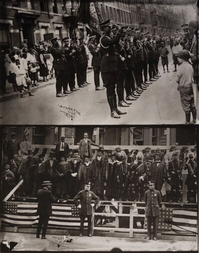 James Van Der Zee, 'VII: Marcus Garvey and Garvey Militia, Harlem', 1924