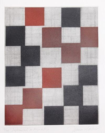 Francisco Castro Leñero, 'Desplazamiento en negro y rojo', 2009