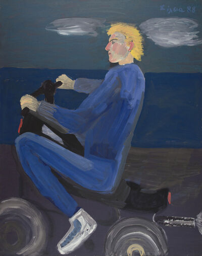 Celia Daskopoulou, 'Untitled (Man with Motorcycle)', 1988