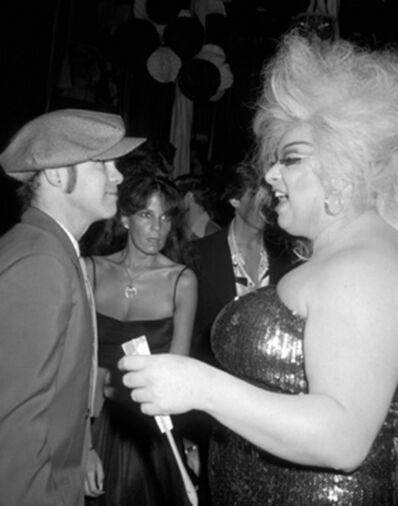Ron Galella, 'Elton John and Divine at Studio 54, New York City', 1978
