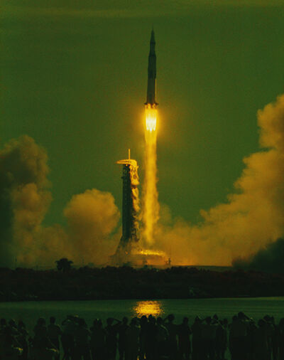 Hiro, 'Apollo 11, 9:23 AM, 7/16/69, Maiden Voyage to the Moon, Cape Canaveral, Florida, July 16, 1969, 9:32 A.M.', 1969