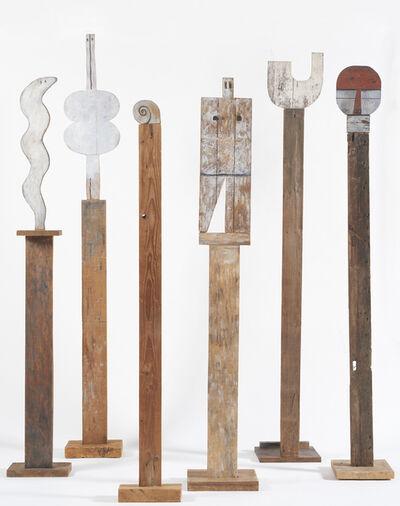 Francisco Matto, 'Tótems: Serpiente, 1960; Venus, 1969; Caracol, 1985; Universal Man, 1988; U, 1970;  Máscara, 1988 ', 1960-1988