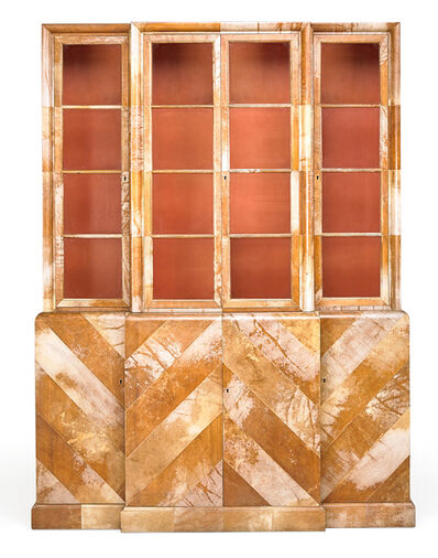 Attributed to Samuel Marx, 'Herringbone Parchment cabinet, USA', 1940s
