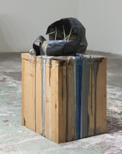 Bhakti Baxter, 'Imploded Ball Barf(pitched bladder, blue and grey)', 2011
