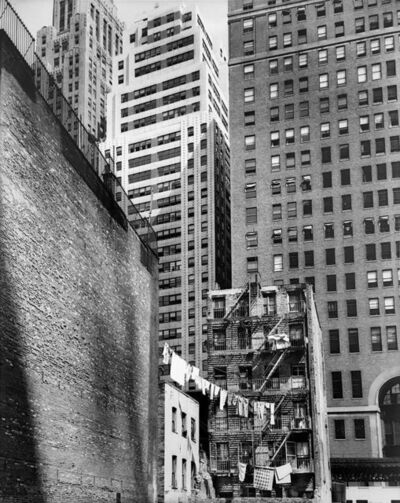 """Berenice Abbott, 'Construction Old and New (from the series """"Changing New York"""")', 1936"""