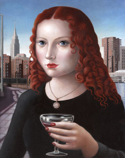 Amy Hill, 'Woman with Glass of Wine'