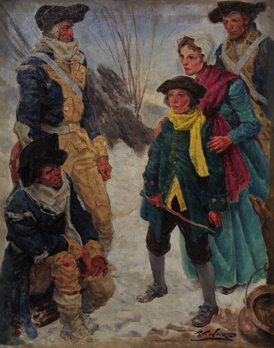 Edmund Franklin Ward, 'Colonial Soldiers at Valley Forge'