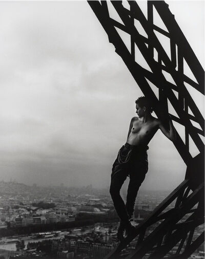 Peter Lindbergh, 'Mathilde on the Eiffel Tower', 1989