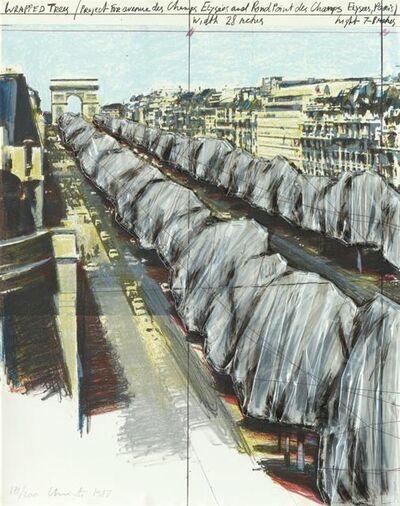 Christo, 'Wrapped Trees, Project for the Avenue des Champs-Elysées, Paris', 1987