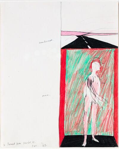 David Hockney, 'Landscape and Man', 1963