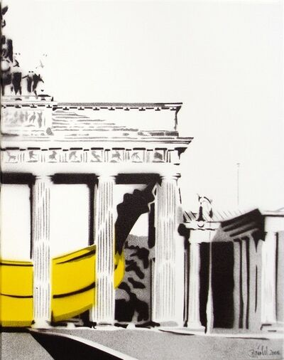 Bananensprayer Thomas Baumgärtel, 'Banane im Brandenburger Tor (right)', 2004