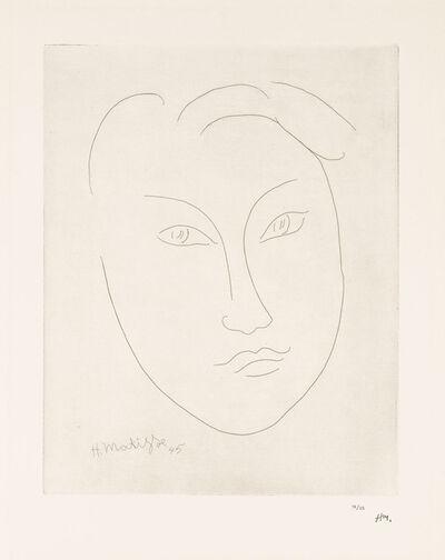 Henri Matisse, 'MASQUE DE JEUNE GARÇON (Mask of a Young Boy)', 1945