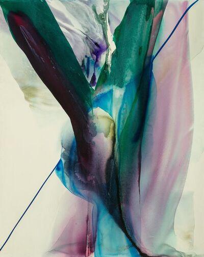 Paul Jenkins, 'Phenomena Blue on White Portrait', 1969