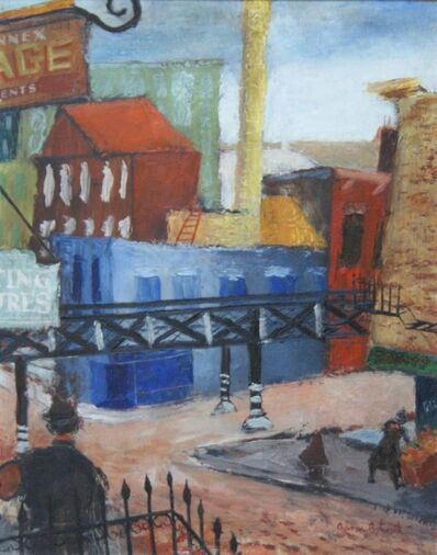 "Aaron Bohrod, '""Industrial Cityscape, Chicago"" WPA Modernism Mid-Century Cityscape 20th Century Modern', 1931"