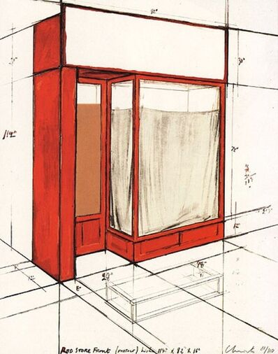 Javacheff Christo, 'Red Store Front', Unknown